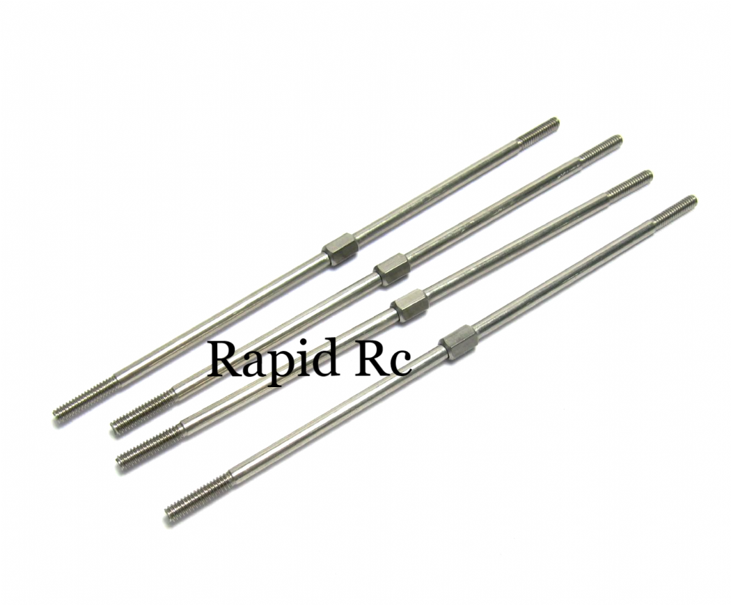 Kuza Adjustable Pushrods Stainless Steel 35cc 2.5x110mm KA04CBS2